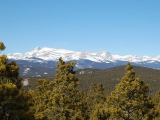 Black Hawk cabin photo - View of Rocky Mountains from Rear of Property.
