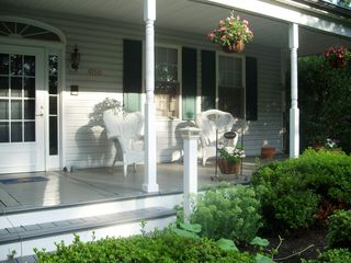 Mount Airy apartment photo - Front porch, enjoy some quiet time, and kick off your shoes