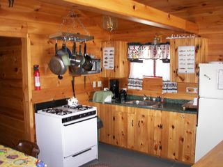 Enfield cabin photo - View of the kitchen area