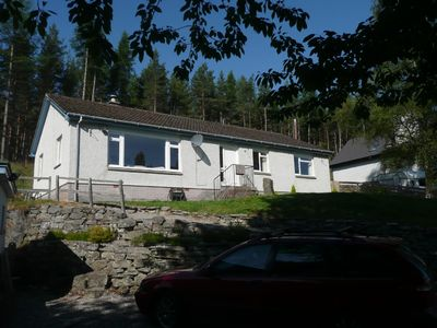 House in Highlands, upgraded internally, with large garden beside River Feshie