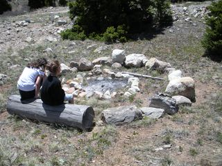 Fairplay cabin photo - Fire Pit located just above the pond. Hey, where's the fire?