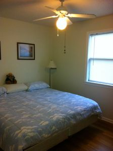 Extra bedroom includes king size bed and TV and DVD player.