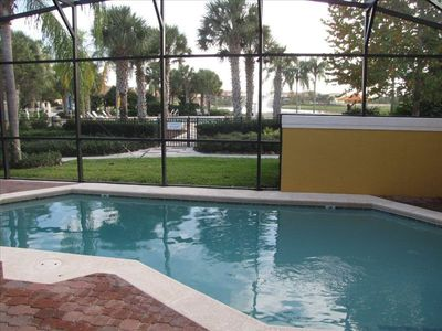 Encantada Resort townhome rental - Private Screened in Pool with Resort behind
