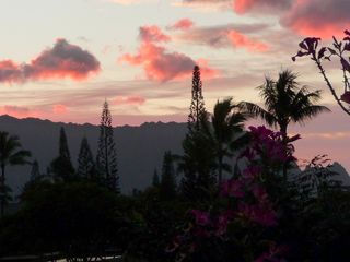 Princeville condo photo - Or enjoy sunset views like this from the private lanai off the Master Bedroom