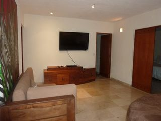 Punta Mita villa photo - TV Lounge area with large flat screen, and chaise, & the large lounge bed/sofa