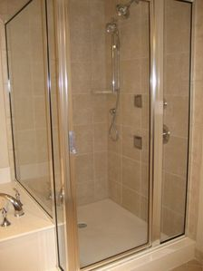 Fantastic shower after your day at the beach