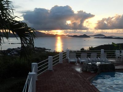 Sunset Ridge Villas offers some of the very best sunset views on St. John