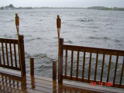 View from deck of the water