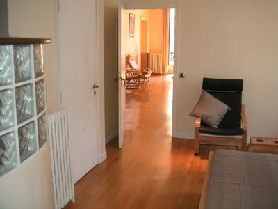 Central Nice apartment rental - Looking through to living room from main bedroom