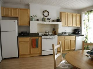 Brooklyn apartment photo - Kitchen refrigerator, stove top, and oven