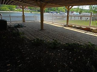 Private shady lakeside patio - Alton Bay condo vacation rental photo