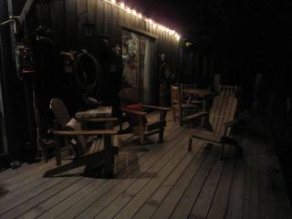 Newfound Lake cabin photo - large deck with sliders to livingroom and kitchen
