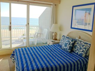 Oceanfront master bedroom with private deck and fantastic views