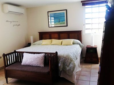 Master Bedroom with King Bed, LCD TV, private bathroom and walk-in close