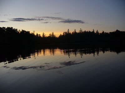 Monson cabin rental - Tranquility on Bunker Pond
