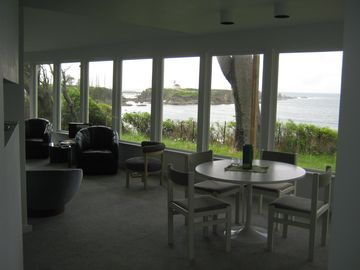 View from dining area and living room