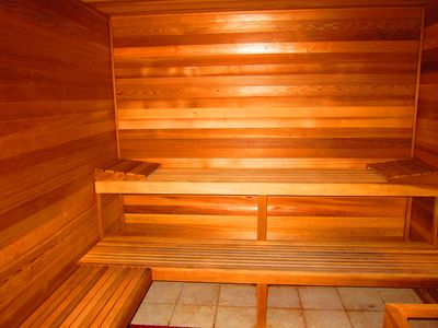Sauna (there is a separate steam room too)