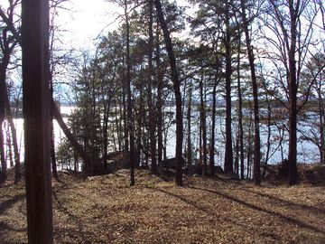 Greers Ferry Lake apartment rental - View of the lake from the back of the apartment.