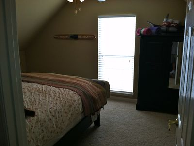 Same Uupstairs bedroom with view of the lake.