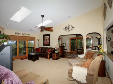 Generous and comfortable seating in the living area