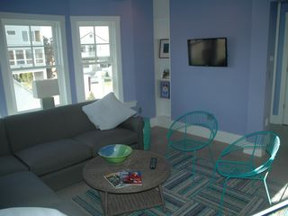 Moody Beach house photo - First Floor Den/Bedroom with TV and Desk with withless Internet