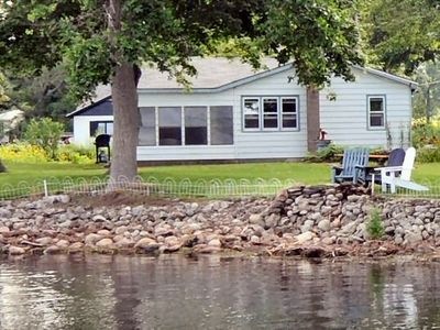 cottage is close to water with a direct view across pond to Lake Ontario