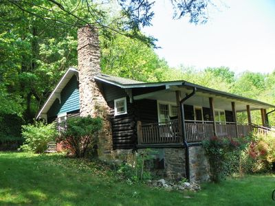 Hot Springs cabin rental - 1920 Chestnut Log Cabin, true Arts & Crafts historic treasure, walk to town.