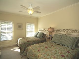 Isle of Palms house photo - 1st floor bedroom with 2 queen beds & a private bath
