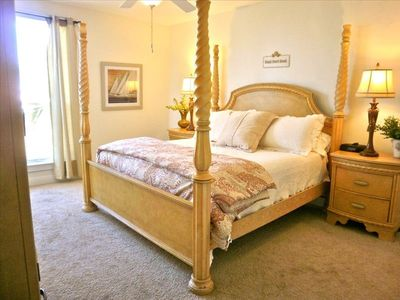 Master Bedroom includes private balcony & huge bath with separate tub and shower