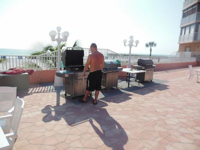 Grill to view over beach