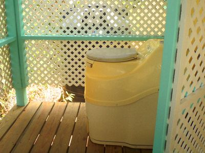 Totally enclosed,the Sun Mar composting toilet is private and simple to maintain