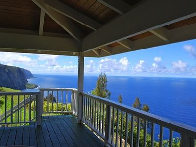 Waipio house rental - View from CliffhouseHawaii's lanai