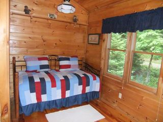 Maggie Valley cabin photo - Loft with Daybed and Trundle Game station with Playstation 2 and Retro Atari,