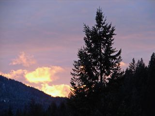 Noxon cabin photo - Sunset