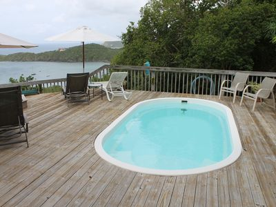 Refreshing pool and spa beckons on the sundeck attached to the main house.