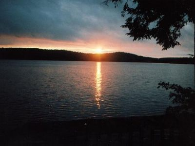 Sebago cottage rental - Morning Sunrise on Peabody Pond