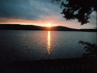 Sebago cottage photo - Morning Sunrise on Peabody Pond