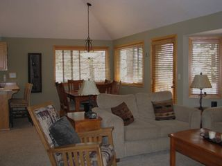 Sunriver house photo - Open dining and great room.