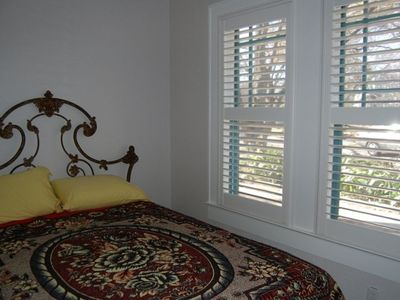 Middle Bedroom; antique bed from Mexico