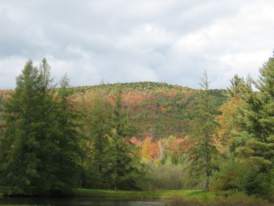 The Sow's Ear, a Franconia Notch Vacations Property - Garnet Hill in all it's fall foliage splendor.  Really is a site to be seen as these photo do little justice to the reality.