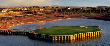 Florence house rental - Poston Butte Golf Course hole #17 island green... a challenging 150 yard par 3!