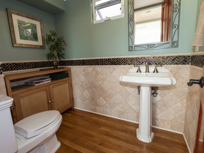 Hermosa Beach townhome rental - Third Floor Powder Room off Kitchen and Living Room