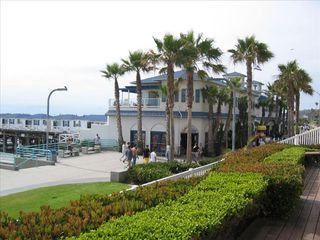 Pacific Beach property rental photo - Boardwalk - North View of Crystal Pier