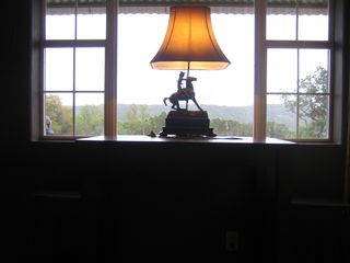 Bandera cabin photo - Texas views from the two person card playing table