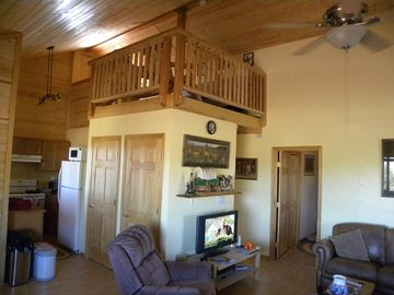 Ash Fork cabin rental - GREAT ROOM AND LOFT.