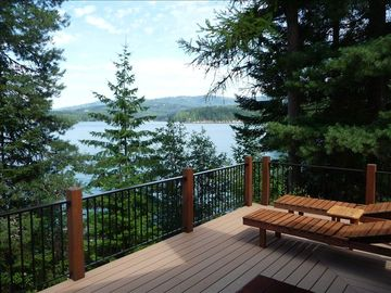 600+sq.ft Trex deck with lake views