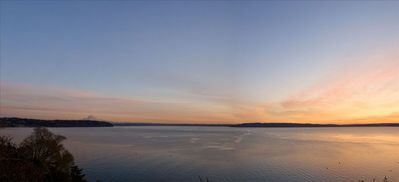 Panoramic View Of Puget Sound and Mount Rainier