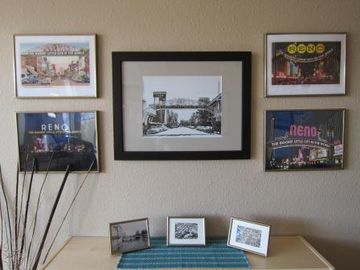 Living room artwork celebrates Reno history
