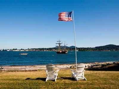 Anacortes house rental - View of the Guemes Channel and Anacortes.