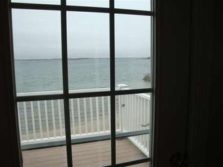 Pocasset house photo - View of beach and water from 2nd floor balcony